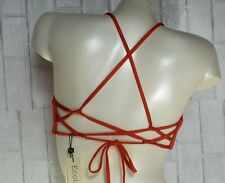 VITAMIN A SWIM 65T VERMILLION GEMMA BRALETTE STRAPPY BACK BIKINI TOP (8/M) $88