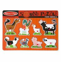 Melissa and Doug Farm Animals Sound Puzzle - 8 Pieces - 10726 - NEW!