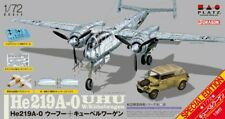"1/72 WW2 Fighter: Heinkel He-219A-0 Uhu ""w/kubelwagon"" [Germany] : Platz"
