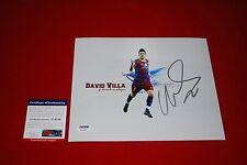 DAVID VILLA fc barcelona spain world cup signed PSA/DNA 8X10 new york city fc 3