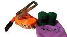 Simian Classic Slackline Kit with Carry Bag Orange 50-Feet