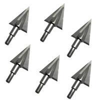 "6pk Broadhead 2.2"" OzCut 3 Blade 100Grain Hunting Archery Arrowheads Arrow Point"