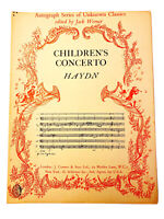 Haydn: Children's Concerto Sheet Music~Piano Solo~1964 J. Curwen~Intermediate