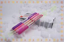 ZEBRA sarasa JJ15 colored easy clip gel pens 0.5 mm 4 PINK colors set