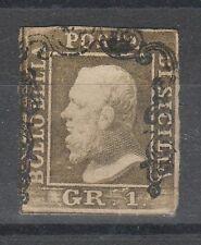 FRANCOBOLLI 1859 SICILIA 1 GR. II° TAVOLA D/1629