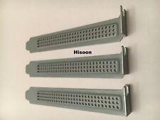 3PC PCI Bracket Slot Case Dust Filter Sliver Steel Blank Blanking Plate