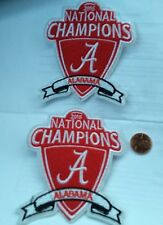 "(2)-Alabama Crimson Tide-2015 National Champions-IRON ON PATCHES  NCAA  4""x3"""