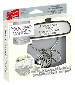 Yankee Candle Locket Refillable Charm Bangle Car Air Freshener Fluffy Towels