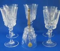 6 piece Lead Crystal Set Vintage France One Bell and 5 Sherry Glasses