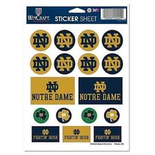 WinCraft NCAA Notre Dame Fighting Irish 2-Piece Die Cut Decal 4 X 8