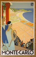 MONTE CARLO ROGER BORDERS PLM original vintage MEDIUM poster lithography 1989