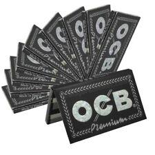 lot 10 carnets OCB  Premium noir courtes de 100  feuilles rolling paper 🇨🇵💫