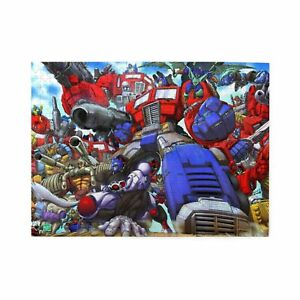 Transformers Cartoon Wooden Jigsaw Puzzle Adults Educational Game Toy 300-1000p