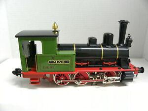 MARKLIN MAXI 1 Gauge 0-6-0 Tank TRAIN w/ Gondola & Coach/pressed steel