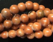 "16"" Strand Semi Precious Gemstone Orange Malachite Round Bead 6mm UK EBAYER"