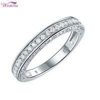 Wedding Band Engagement Ring For Women 925 Sterling Silver Round White Cz 5-12