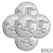 2014 Silver 1 oz Canada Birds of Prey Bald Eagle (5 Coins)