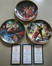 More details for star wars trilogy hamilton collection plates excellent condition numered w/ coa