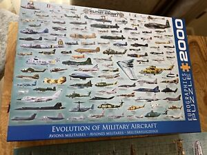 Eurographics 2000 piece Military jigsaw- Aircraft