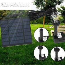 Solar Power Water Pump Panel Kit Fountain Pool Garden Bird Bath Submersible