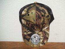 NEBO CAMOUFLAGE TRUCKERS CAP MESH BACK ONE SIZE FITS MOST NEW