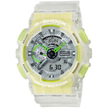 Casio G-Shock GA110LS-7A Yellow Green Clear Translucent Transparent Jelly Watch