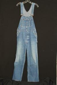 RARE VINTAGE 1960'S-1970'S WARDS BLUE DENIM OVERALLS SIZE MEDIUM