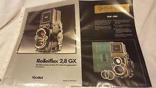 Broschüre Prospekt Werbeflyer Rollei Rolleiflex 2,8 GX  Sammler rar Deutsch