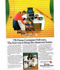 1983 Texas Instruments 99/4A Home Computer Giant Pencil Bill Cosby Vintage Ad
