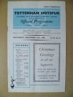 1963 Leg Division One- TOTTENHAM HOTSPUR  v STOKE CITY,14 Dec;Christmas Greeting