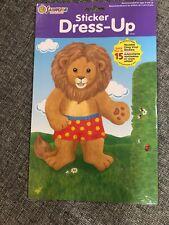 Sandylion Dress Up Lion Rare Vintage Vinyl Sticker Doll New