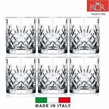 Set of 6X RCR Italian Crystal Melodia Whiskey Glass 23CL -Same Day Ship