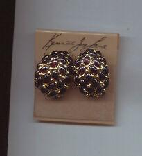 KENNETH LANE BLACK CABOCHON earrings