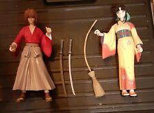 Rurouni Kenshin Figures, Toycom, Kenshin + Kaoru, loose