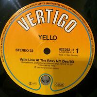 "Yello – Live At The Roxy N.Y. Dec 83   Vinyl 12"" Single Sided  Mint   UNPLAYED"