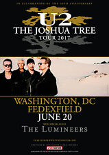 U2 THE JOSHUA TREE TOUR 2017 WASHINGTON DC PROMO POSTER THE LUMINEERS