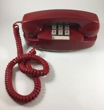 Vintage Bell Systems Western Electric Princess Phone Red Touch Tone Telephone