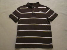 Mens Hollister Holister Brown Stripe Polo Shirt Short Sleeve M L Soft Cotton