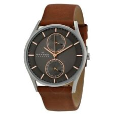Skagen Men's Holst SKW6086 Brown Leather Japanese Quartz Fashion Watch
