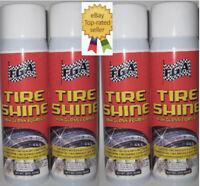FGA1 Tire Shine [4] High Gloss 15oz Aerosol Spray Wet Look Dressing
