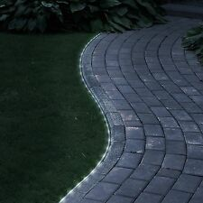 32' String 100 LED Solar Power Outdoor Landscape Lawn Garden Pathway Rope Light