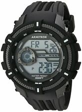 Armitron Men's Black Resin Digital Watch, 100 Meter WR, Chronograph, 40/8384BLK