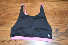 Rebelth Athletic Cheer Tumble Gymnastics Sports Bra Size AM Black Pink