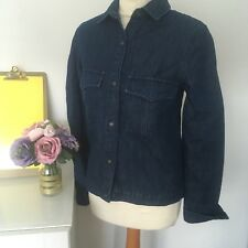 Zara woman's premium Denim Collection Blue Shirt Size XS #3