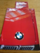 BMW 3 SERIES SALOON BROCHURE 1985 86 PLUS COLOURS jm