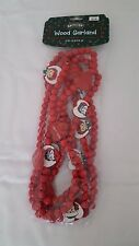 1998 Target Snowden & Friends Raggedy Ann & Andy Wood Christmas Garland 9ft. NIP