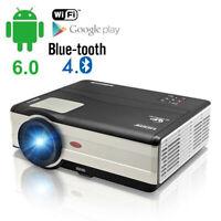 4500lms LED Heimkino Beamer Projektor 1080P HD HDMI*2 USB VGA Android Blue tooth