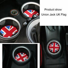 For MINI Cooper Union Jack Checkered Soft Silicone Cup Holder Coasters