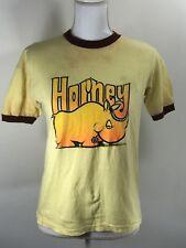 True Vintage 1970's Graphic Ringer T-shirt Horny Rhino
