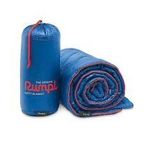 "Rumpl Original Puffy Blanket 50 x 70"" throw 1 Person Blue Indoor Outdoor Camping"